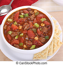 Chili with Tomato and Peppers