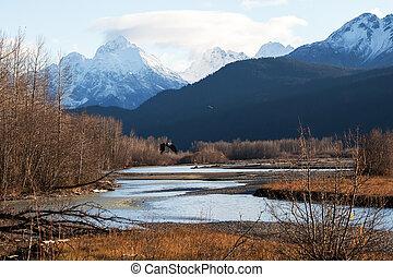 Chilkat River eagle preserve in fall