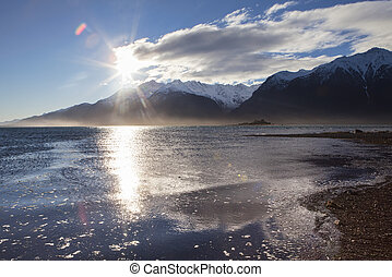 Chilkat River Estuary Sunset
