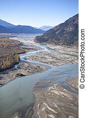 Chilkat River in Fall