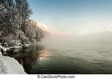 Chilkat River in Winter
