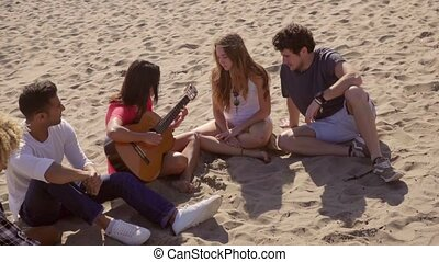 Chill To The Sounds Of The Acoustic Guitar - Young woman...