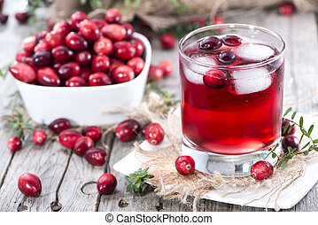 Chilled Cranberry Juice in a glass
