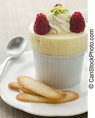 Chilled Lemon Souffle with Langue de Chat Biscuits