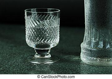 Chilled vodka.