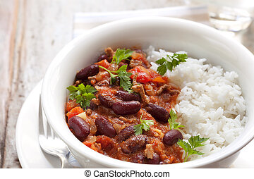 Chilli Con Carne with Rice - Healthy chilli con carne with...