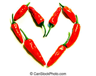 Chilli Heart - Chilli heart - Heart on Fire - Hot love