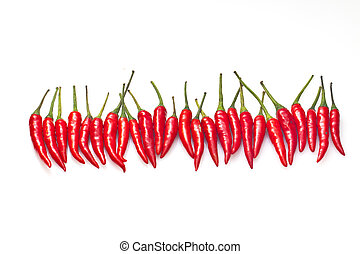 Chilli isolated on white background