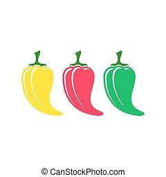 Chilli pepper icons