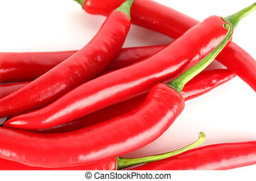 chilli pile isolated on white background