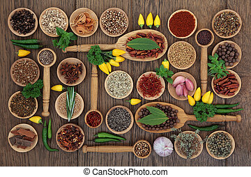 Chilli Spices and Herbs - Chilli spice and herb ingredients ...