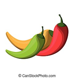 Chilli spicy food isolated vector illustration graphic ...