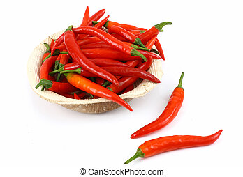 chillies, rouge chaud