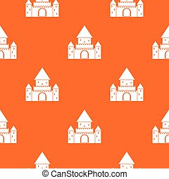 Chillon Castle, Switzerland pattern seamless