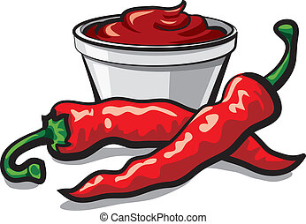 chilly peppers and ketchup