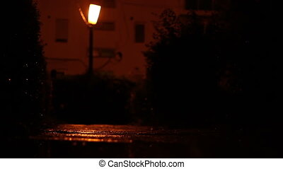 Chilly Wet Night - A cold and wet night, in a dark alley...