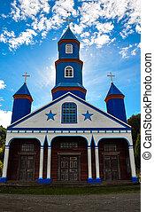 chiloé, coloré, île, bois, églises, magnifique, chili
