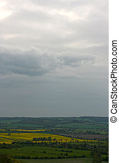 Chilterns landscape. View from Whiteleaf, Princess...