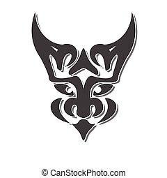 mystic chimera face fantasy vector design