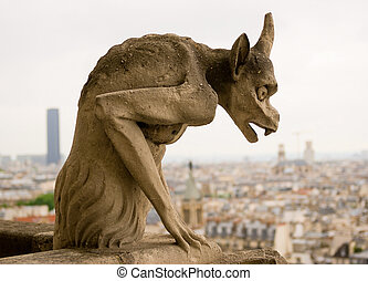 Chimera of Notre Dame de Paris.