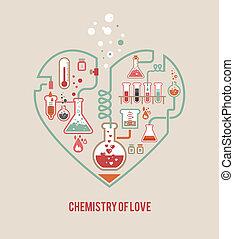 chimica, di, amore