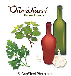Chimichurri, Classic Herb Blend - Chimichurri, popular herb...