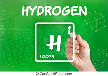 chimico, simbolo, idrogeno, elemento