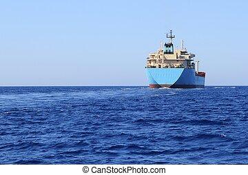 chimico, trasporto, barca, costa, navigazione, petroliera
