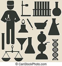 chimie, icônes
