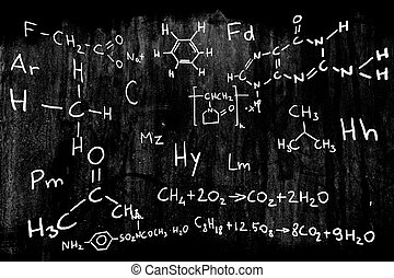 chimie, illustration, science