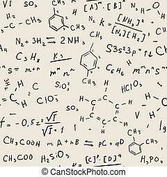 chimie, seamless, fond