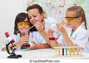 chimique, école primaire, expériences