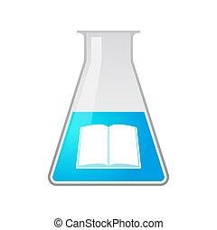 chimique, éprouvette, livre