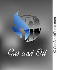 chimique, essence, usine