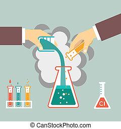 chimique, expérience, illustration