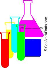 chimique, flacons