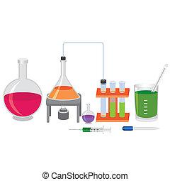 chimique, fluids., expérience