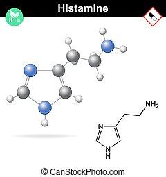 chimique, formule, histamine, structural