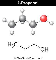 chimique, formule, propanol