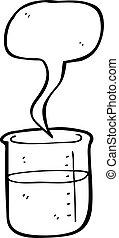chimique, gobelet, dessin animé
