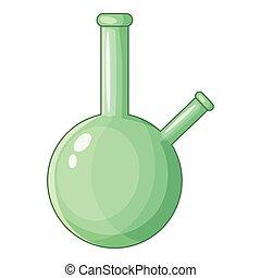 chimique, gobelet, icône, style, dessin animé