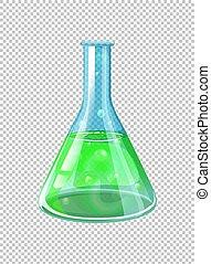 chimique, gobelet, vert
