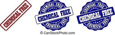 chimique, gratté, timbre, gratuite, cachets