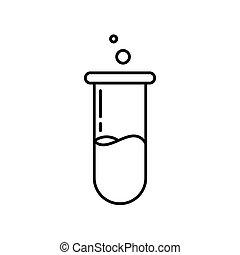 chimique, illustration, icon., tube, vecteur