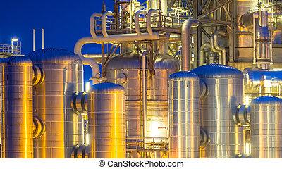 chimique, industrie, récipient, détail