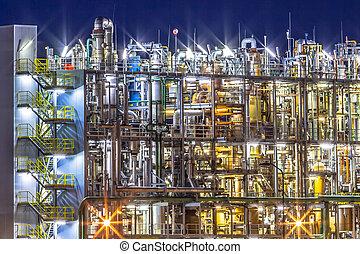 chimique, industriel, usine, détail