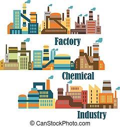 chimique, industriel, usines
