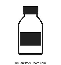chimique, laboratoire, bouteille, verre