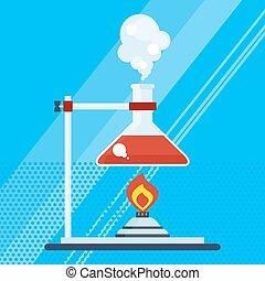 chimique, laboratoire, brûleur