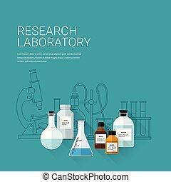 chimique, laboratory., recherche